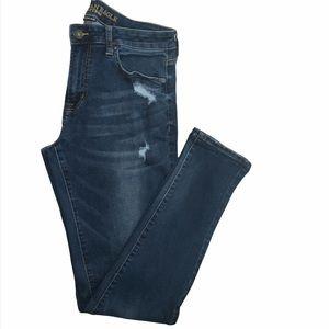 AEO skinny jeans extreme flex dark wash 34x33